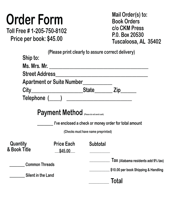 Monfore Group, Inc – Book Order Form